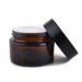 Borcan din sticlă maro, recipient pentru creme cu uleiuri esențiale, 30 ml