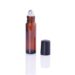 Sticluță Roll-On 10 ml, maro, Anti-UV, bilă metalică din INOX