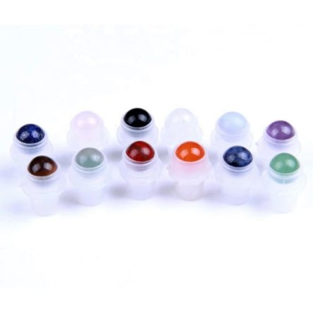 Set de 5 bile roll-on din cristale / pietre semi-pretioase