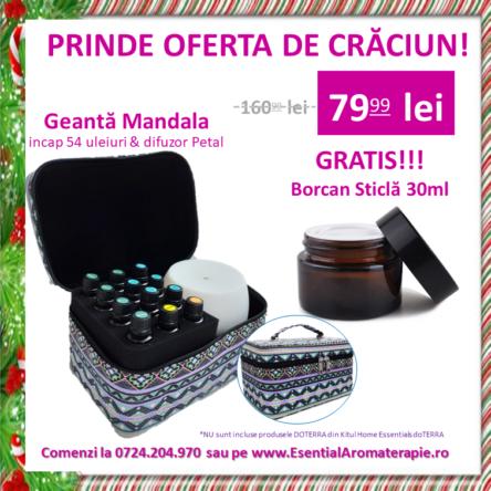 Geanta Mandala + GRATIS Borcan sticla 30ml